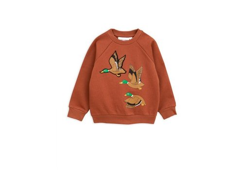 Mini Rodini Duck sp sweatshirt brown