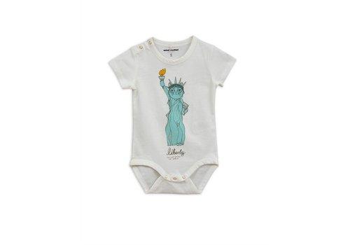 Mini Rodini Liberty sp ss body white