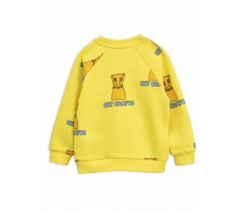 Cat campus sweatshirt yellow