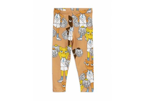 Mini Rodini Cheercats leggings beige
