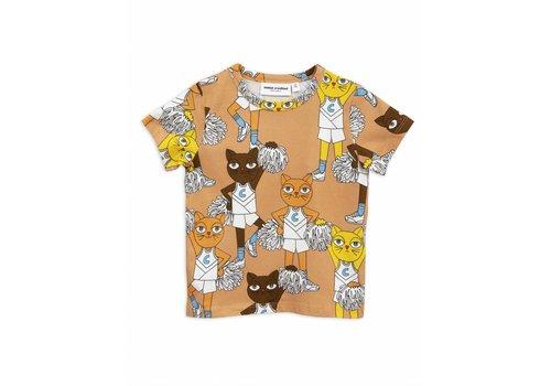 Mini Rodini Cheercats ss tee beige