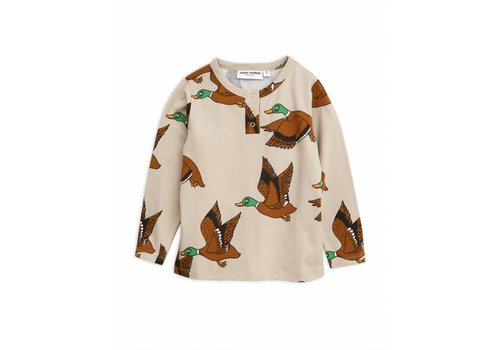 Mini Rodini Ducks aop grandpa beige