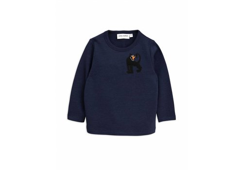 Mini Rodini Panther wool sweatshirt navy