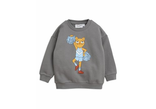 Mini Rodini Cheercat sp sweatshirt grey