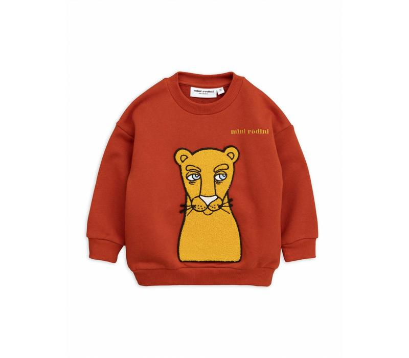 Cat patch sweatshirt red