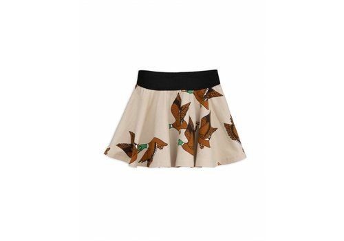Mini Rodini Ducks aop skirt beige