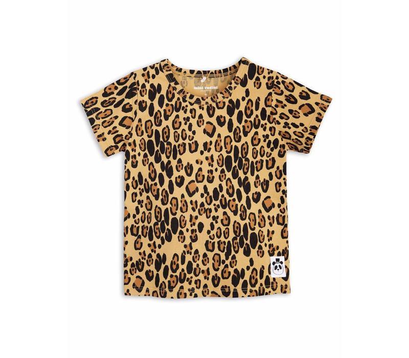Basic leopard ss tee beige