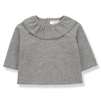 Clementina Blouse, Mid Grey