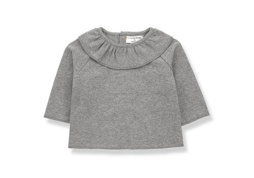 1 + More in the Family Clementina Blouse, Mid Grey