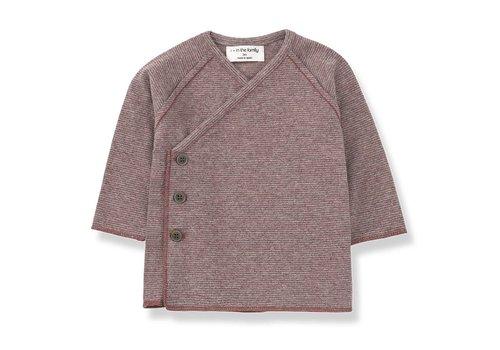 1 + More in the Family Koji Newborn Shirt, Pruna/Grey