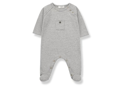 1 + More in the Family Asier Jumpsuit, Light Grey/Ecru