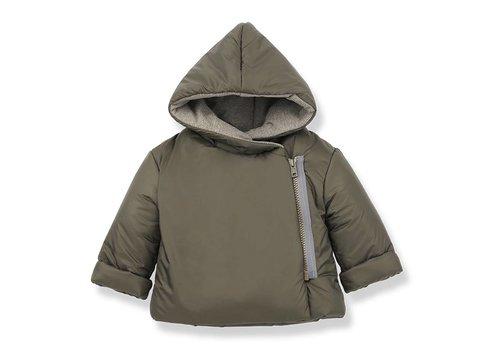 1 + More in the Family Hansel Zipper Jacket, Khaki