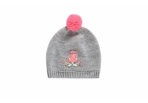 Louise Misha Beanie Dinia Light Grey