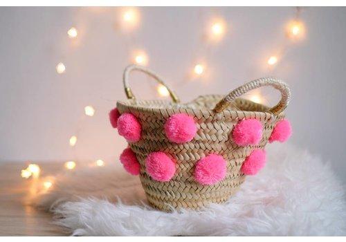 Louise Misha Small Basket Babu Fluo Pink