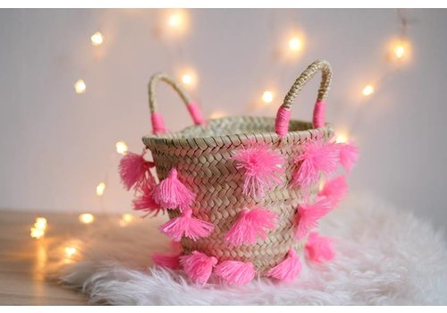 Louise Misha Small Basket Moti Fluo Pink