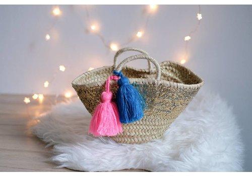 Louise Misha Small Basket Sacha Glitter Fluo