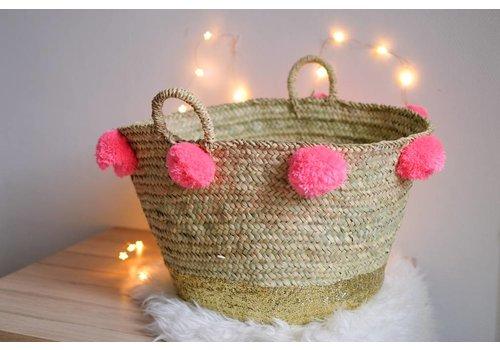 Louise Misha Large Basket Tresor Fluo Pink