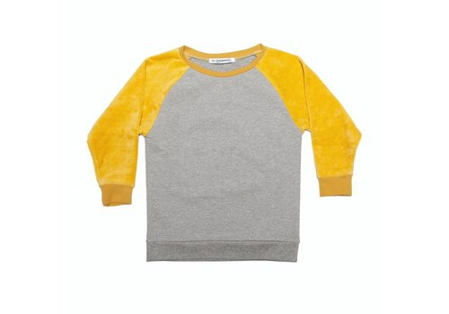 MINGO Velvet Sweater Grey/ Sauterne