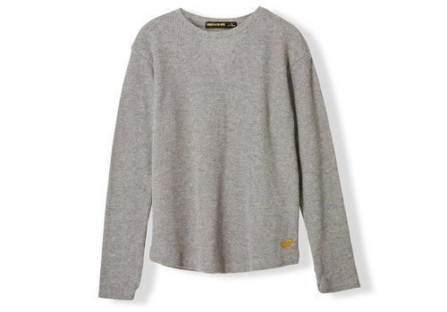 Finger in the nose Ross Heather Grey Honeybomb-Girl Knitted Fleece Jogging Pants