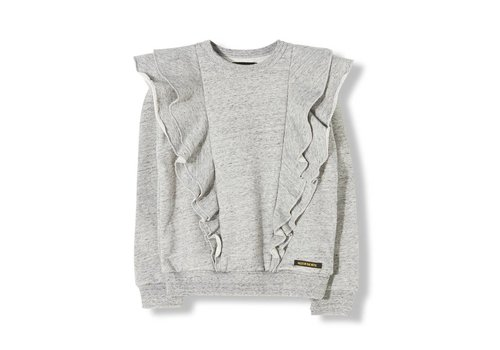 Finger in the nose Shibuya Heather Grey-Girl Knitted Crew Neck Sweatshirt