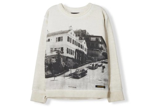 Finger in the nose Brian Off White Downhill - Boy Knitted Crew Neck Sweatshirt