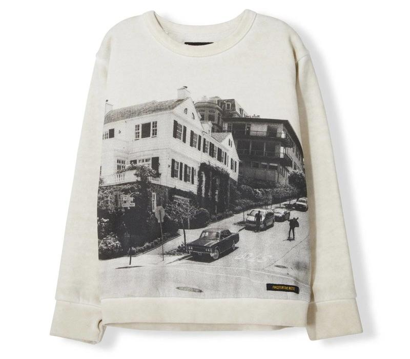 Brian Off White Downhill - Boy Knitted Crew Neck Sweatshirt