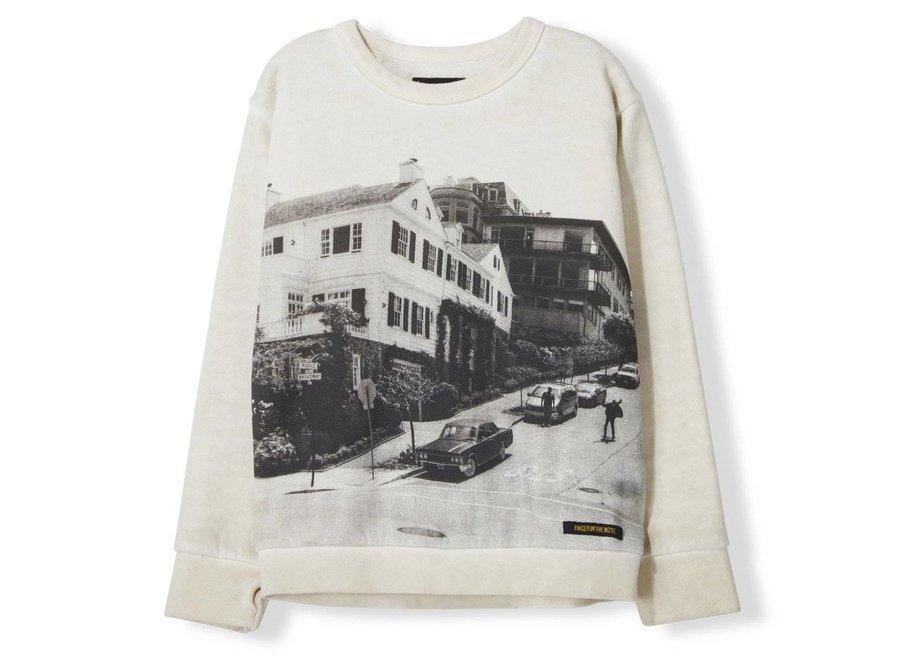 Brian Off White Downhill - Boy Knitted Crew Neck Sweatshirt