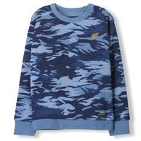Brian Stone Blue Camo - Boy Knitted Crew Neck Sweatshirt