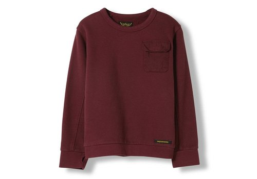 Finger in the nose Brian Burgundy - Boy Knitted Crew Neck Sweatshirt