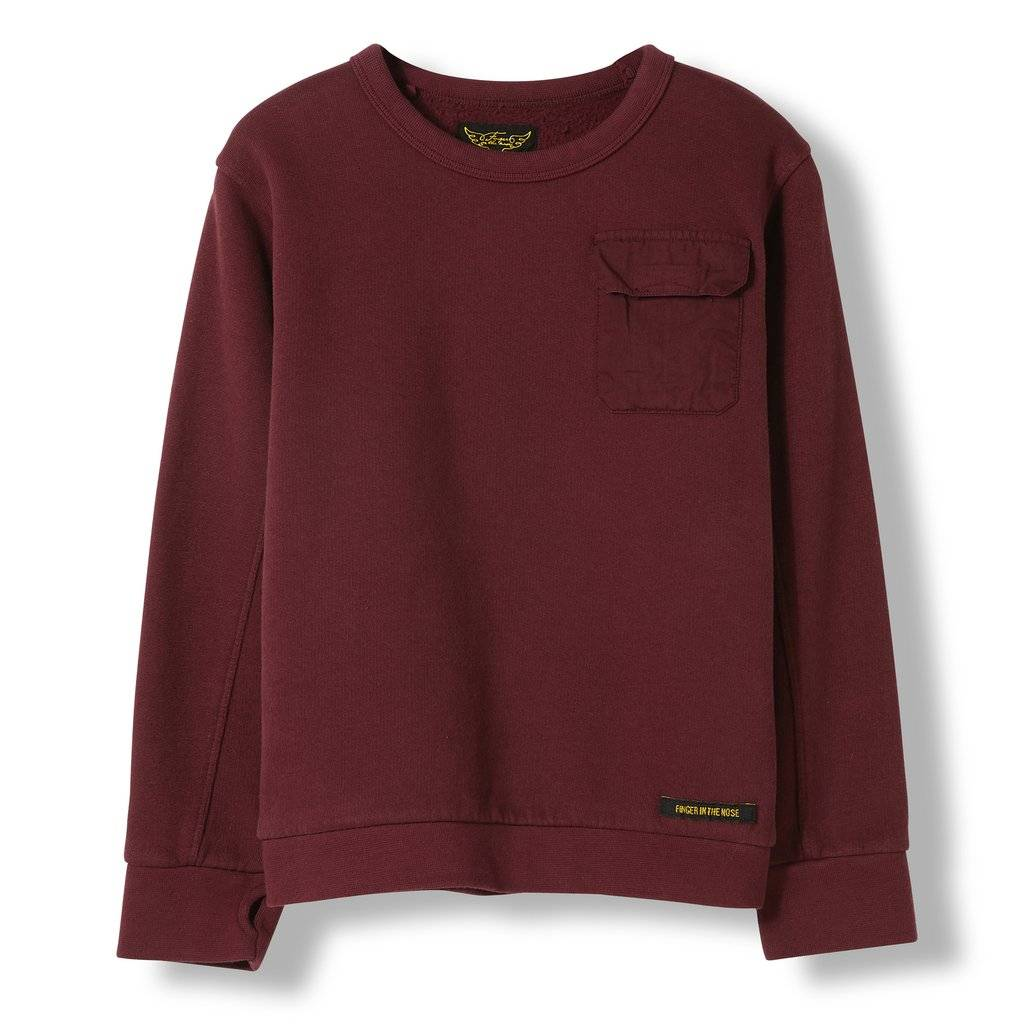 7861d4e6e Brian Burgundy - Boy Knitted Crew Neck Sweatshirt - Store of Daydreams