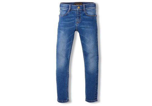 Finger in the nose Tama Dirty Blue - Girl Woven Skinny Fit Jeans
