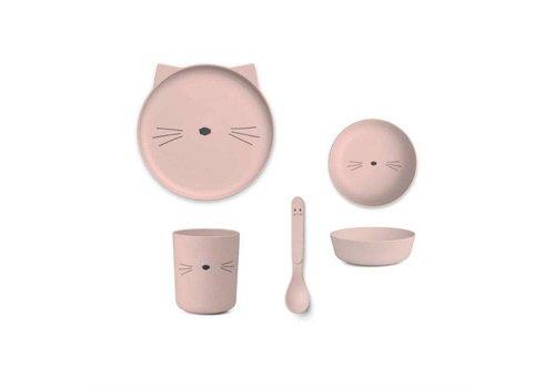 Liewood Barbara Bamboo Baby Set - Cat rose