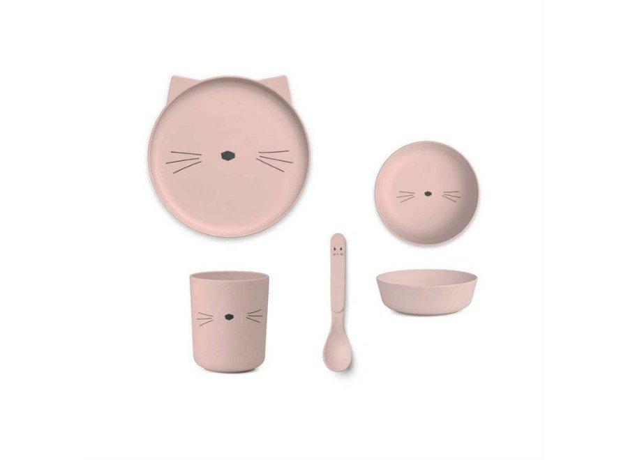 Barbara Bamboo Baby Set - Cat rose