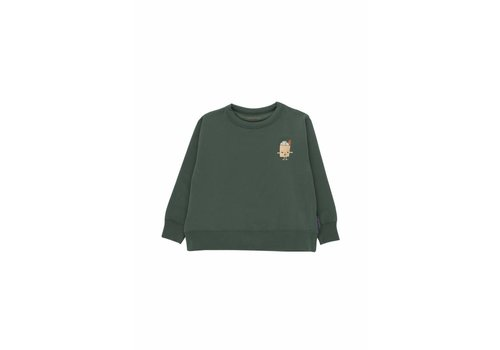 Tiny Cottons Friendly bag graphic sweatshirt dark green