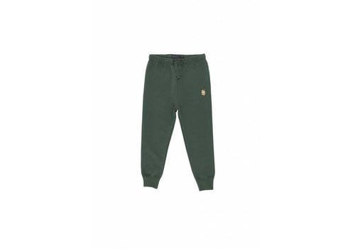 Tiny Cottons Friendly bag graphic pant dark green