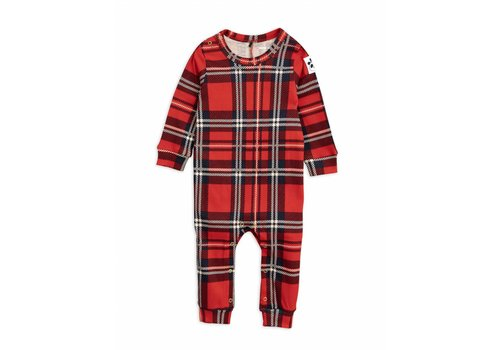 Mini Rodini Check jumpsuit red