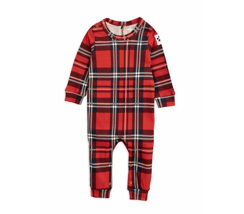 Check jumpsuit red