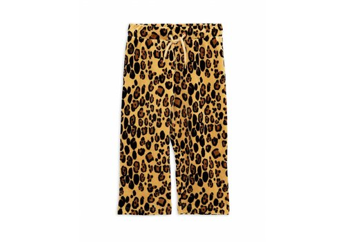 Mini Rodini Leopard velour sweatpants beige
