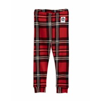 Check leggings red