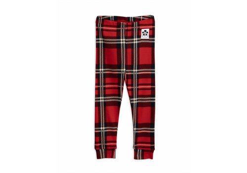 Mini Rodini Check leggings red