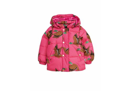 Mini Rodini Ducks puffer jacket cerise