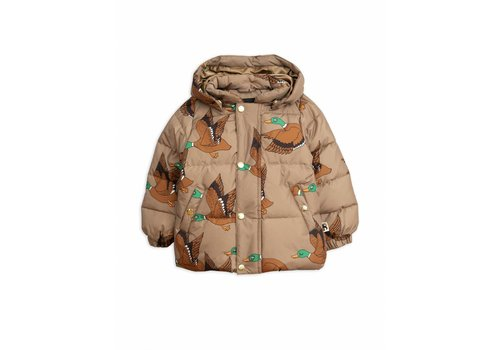 Mini Rodini Ducks puffer jacket brown