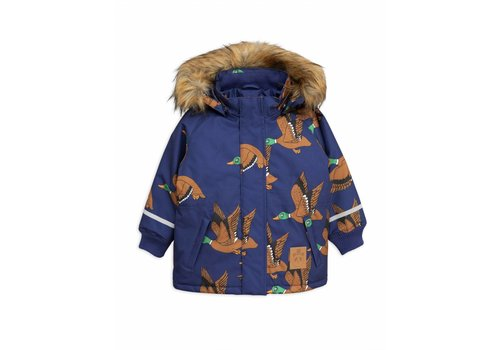 Mini Rodini K2 ducks parka navy