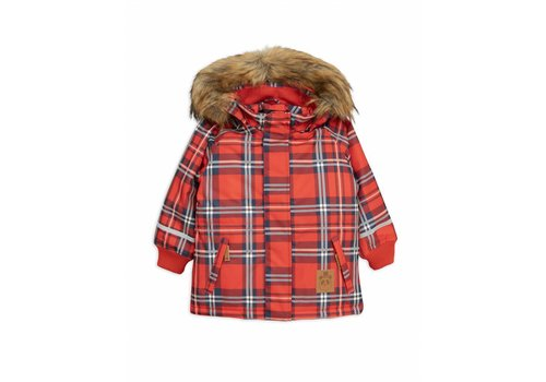 Mini Rodini K2 check parka red