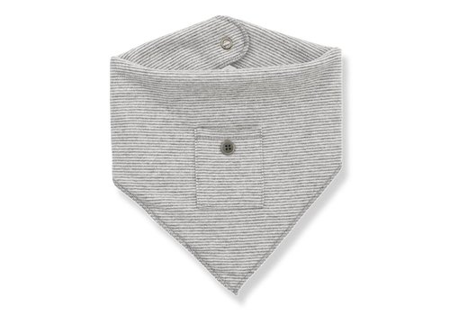 1 + More in the Family Rita Baby Bib, Light Grey/ Ecru