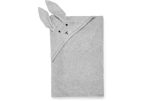 Liewood Willy Knit Blanket Rabbit Dumbo Grey