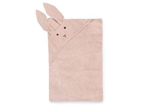Liewood Willy Knit Blanket Rabbit Rose