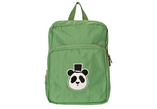 Mini Rodini Panda Backpack, Green