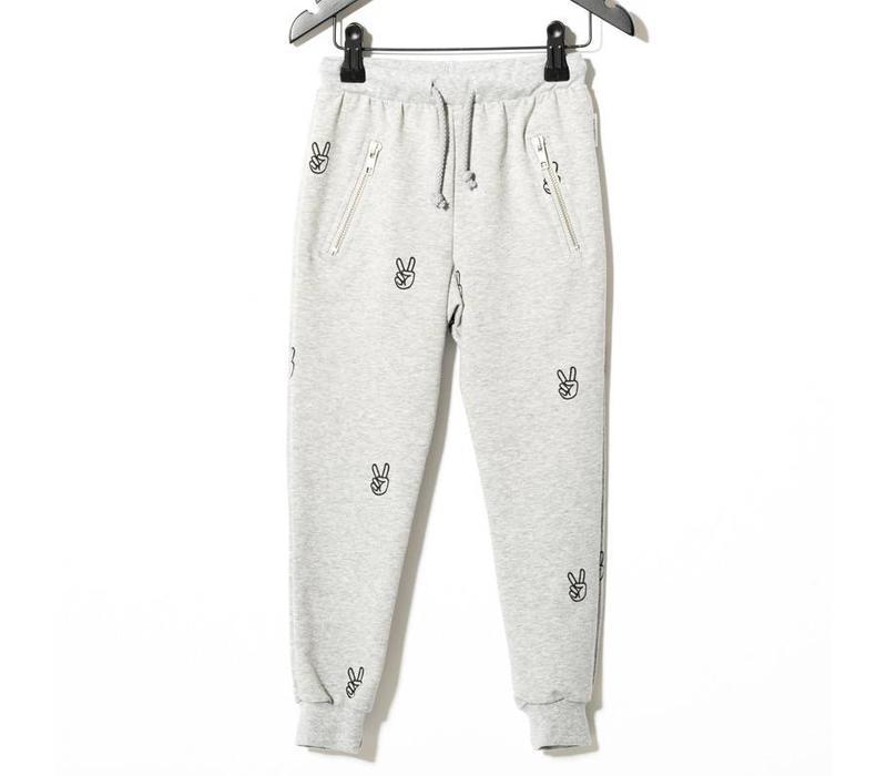 Power Sweatpants, Grey Melange