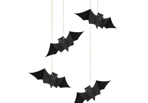 Meri Meri Hanging Bats Decorations ( 8 st)